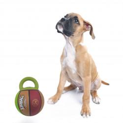 Grossiste Ballon de basket vert et marron avec poignée pour chien