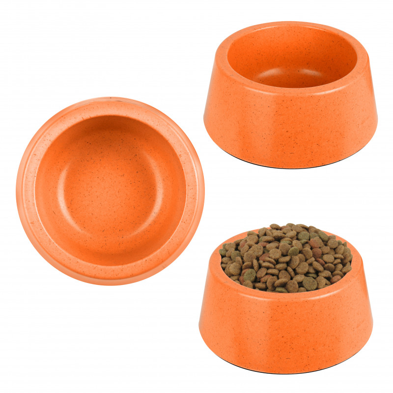 Grossiste Gamelle ronde en en bambou - orange TGM