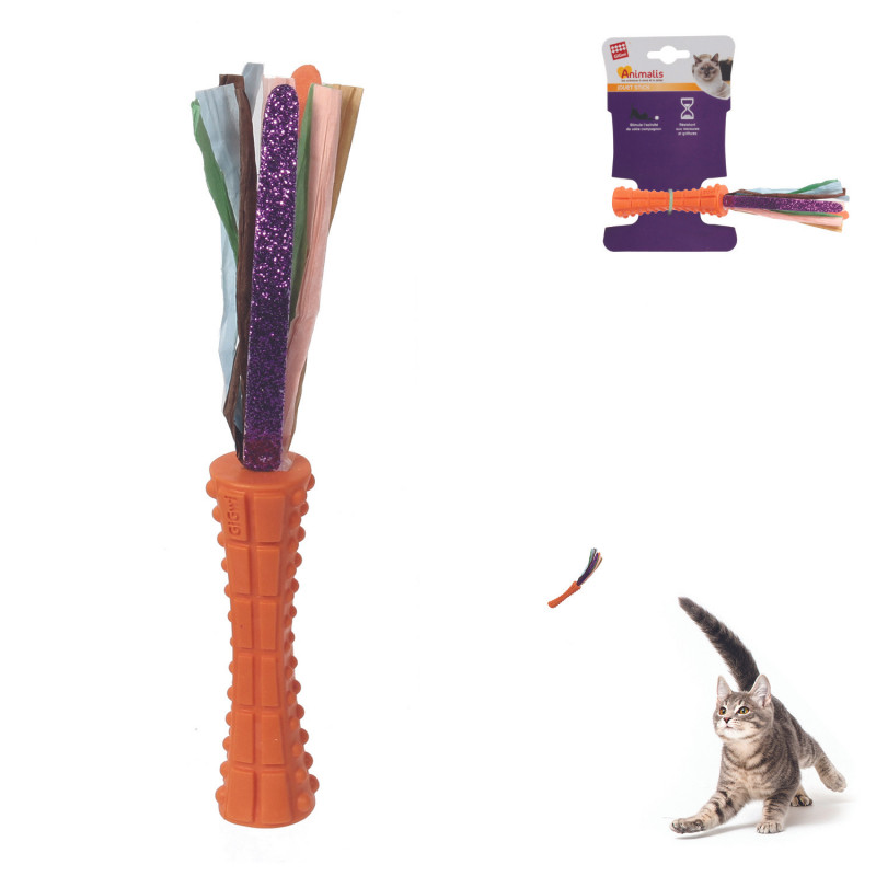 Grossiste Jouet stick orange et en papier pour chat