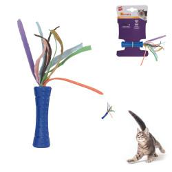 Grossiste Jouet stick bleu et en papier pour chat