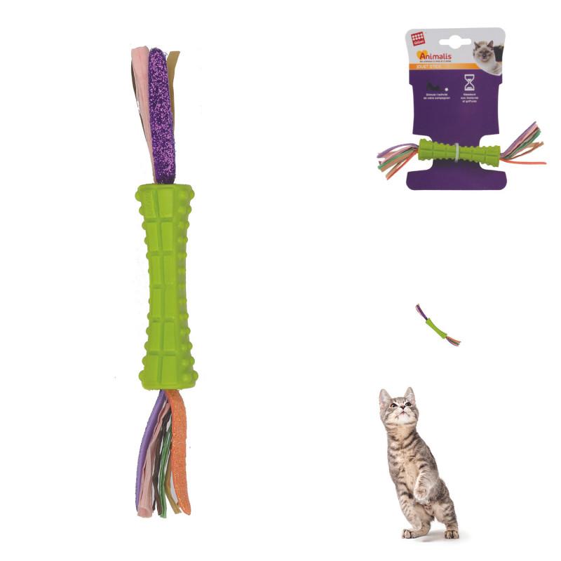 Grossiste Jeu stick vert double en papier pour chat
