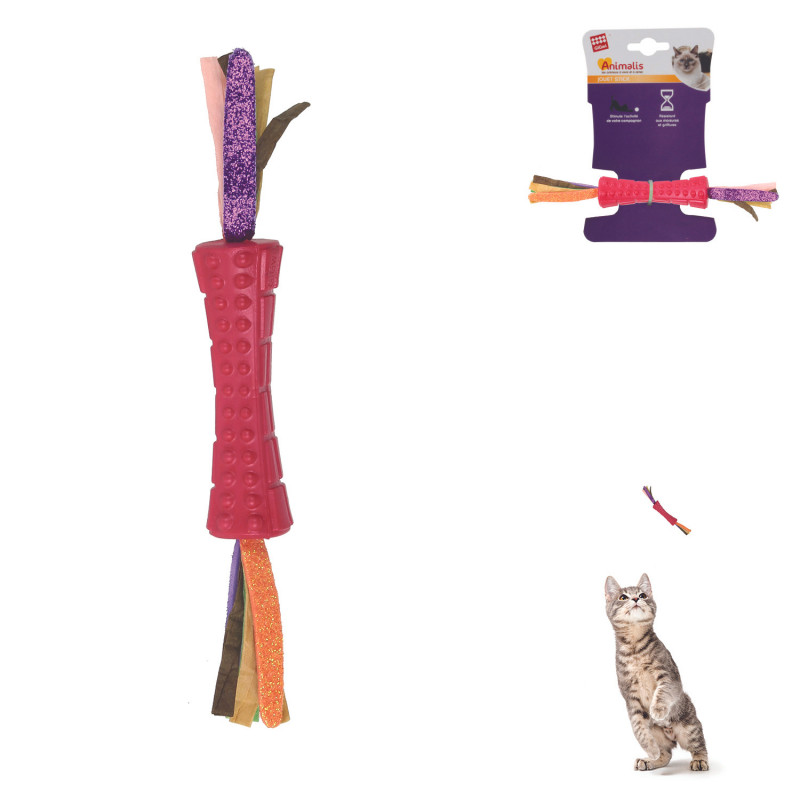 Grossiste jouet stick rouge double en papier pour chat