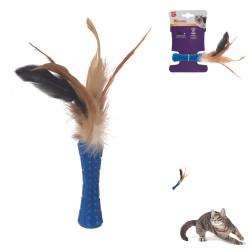 Grossiste Stick bleu à plumes