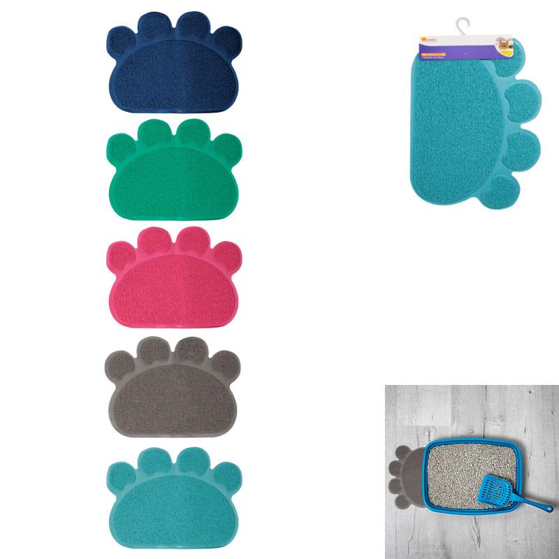 Grossiste tapis litière en PVC en forme de patte - 60x45cm