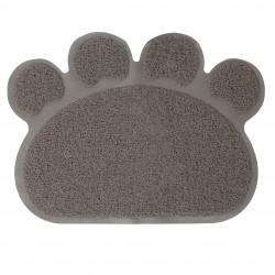 Grossiste tapis litière en PVC en forme de patte grise - 60x45cm