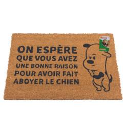 Grossiste paillasson coco humoristique illustration chien
