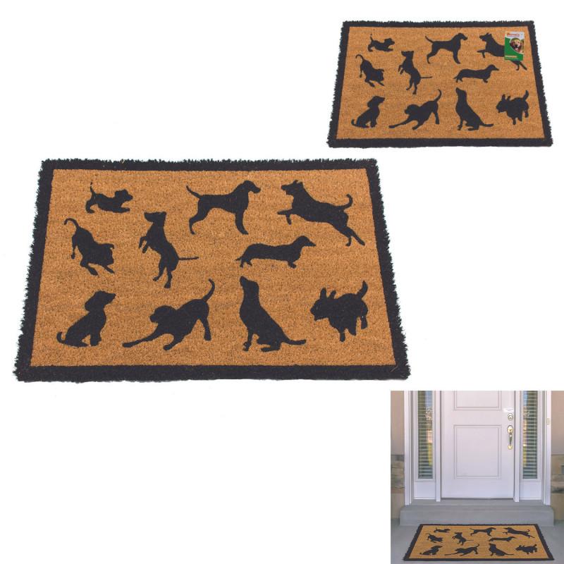 Grossiste Paillasson coco illustrations chiens