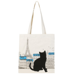 Grossiste Tote bag chat - Tour Eiffel