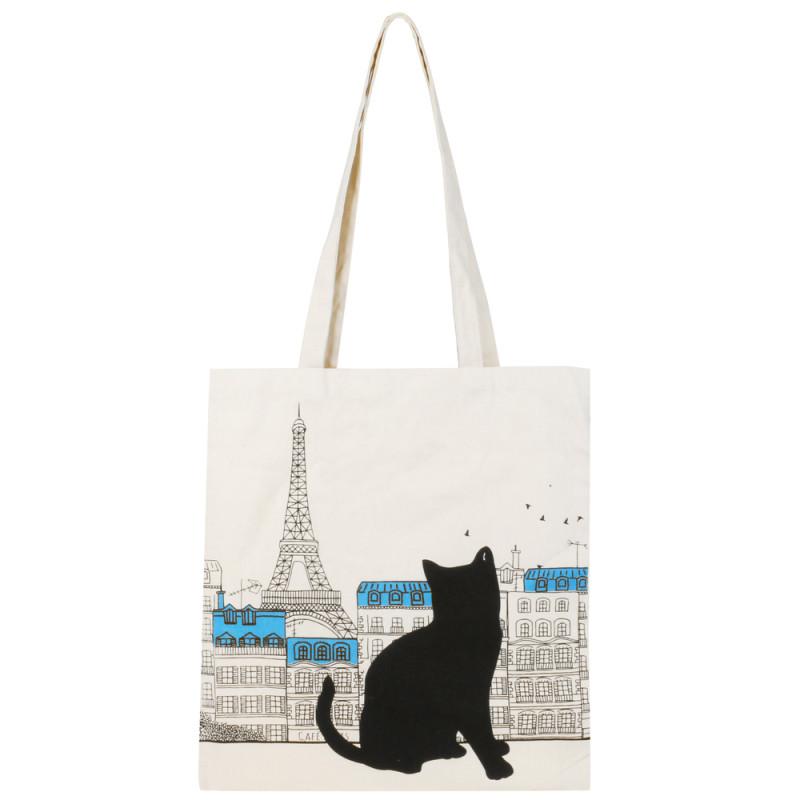 Grossiste Tote bag chat - Tour Eiffel