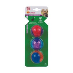 Grossiste Set de 3 balles sonores pour chien - taille S