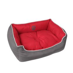 Grossiste corbeille rembourrée rouge - 65x51cm