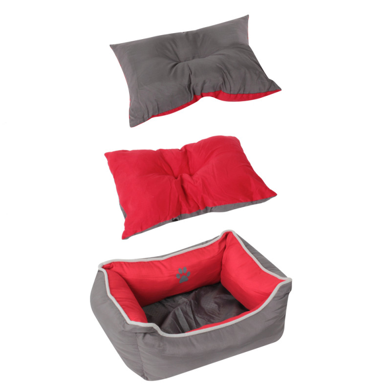 Grossiste corbeille rembourrée rouge - 45x35cm