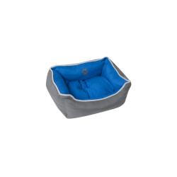Grossiste corbeille rembourrée bleue - 45x35cm