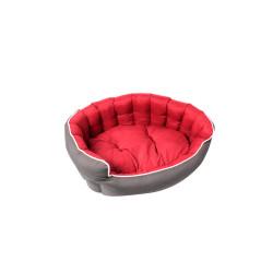 Grossiste Corbeille rembourrée et capitonnée rouge - 75x65cm
