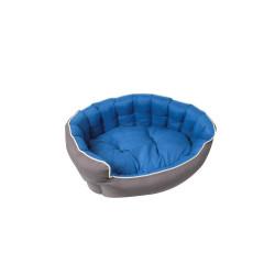 Grossiste Corbeille rembourrée et capitonnée bleue - 75x65cm