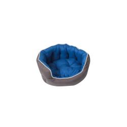 Grossiste corbeille rembourrée capitonnée bleue - 53x47cm