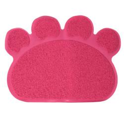 Grossiste tapis litière en PVC en forme de patte rose - 60x45cm