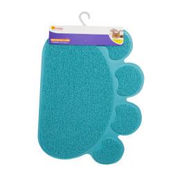 Grossiste tapis litière en PVC en forme de patte bleue - 60x45cm