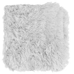 Grossiste plaid doux blanc poils longs
