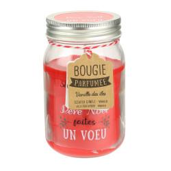 """Grossiste bougie Mason jar """"Un Noël magique"""" 7.3x12.7cm"""