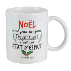 """Grossiste bougie mug """"Un Noël magique"""""""