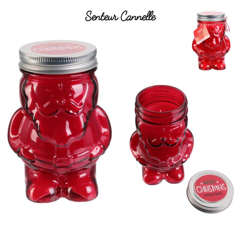 Grossiste bougie Mason jar père en forme de père Noël