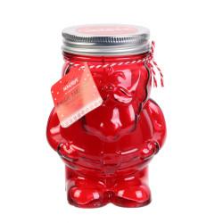Grossiste bougie Mason jar en forme de père Noël