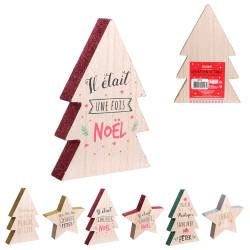 Grossiste décoration en bois en forme de sapin / étoile