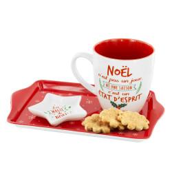 Coffret mug, plateau et coupelle de Noël