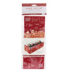 Grossiste boîte a bûche pic déco x4 avec support rouge