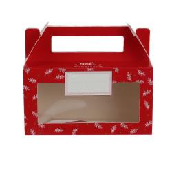 Grossiste boîte à biscuits et chocolats en papier spécial Noël rouge