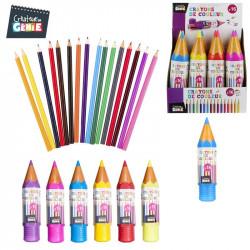 Grossiste et fournisseur. Boîte de 16 crayons de couleur en forme de crayon géant