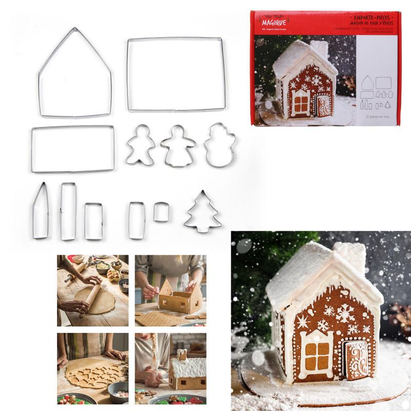 Grossiste Set d'emporte-pièce en forme de maison de pain d'épice