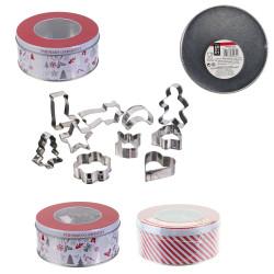 Grossiste boîte en en métal avec emporte-pièces x10