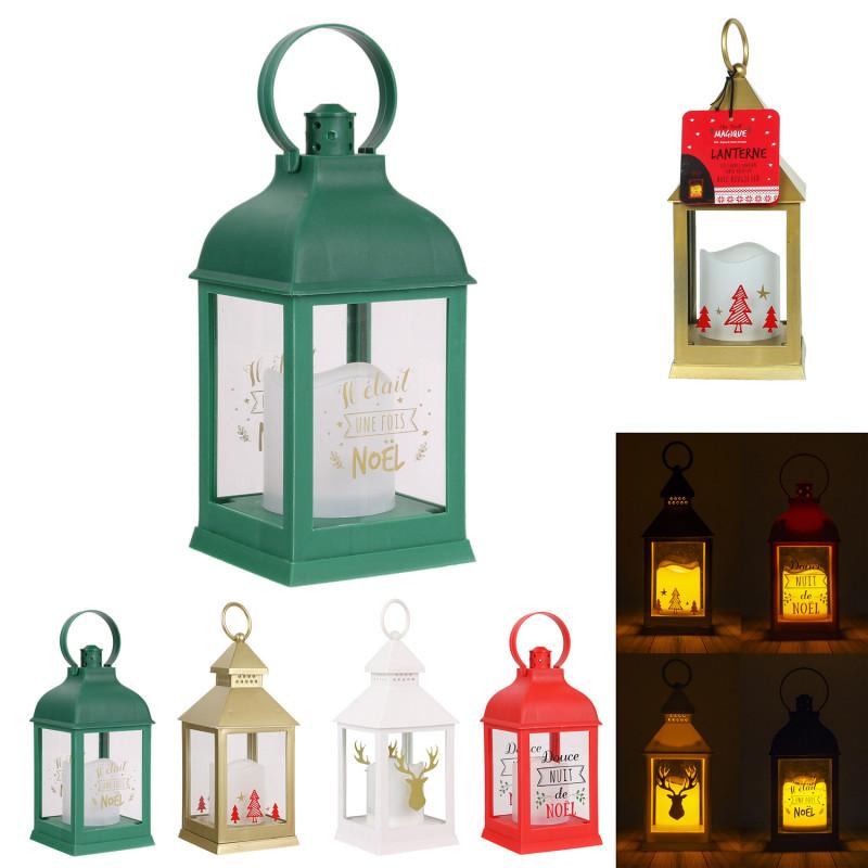 Grossiste lanterne à bougie LED de Noël 24cm