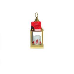 Grossiste lanterne à bougie LED dorée de Noël 24cm