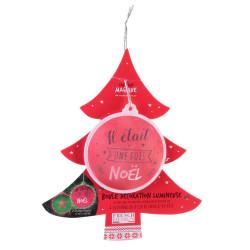 Grossiste boule de Noël LED rouge sapin