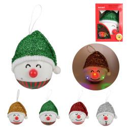 Grossiste décoration LED à suspendre bonhomme Noël 120mm