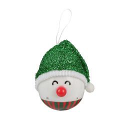 Grossiste décoration LED à suspendre bonhomme Noël 120mm verte