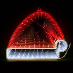 Grossiste miroir LED effet infini en forme de bonnet de Noël 16cm