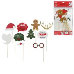 Grossiste accessoire photobooth de Noël x10