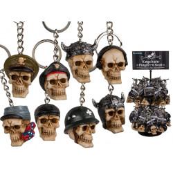 Porte-clés métal tête de mort