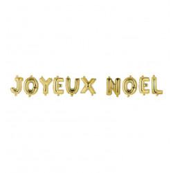 Grossiste coffret ballons en aluminium spécial Noël doré