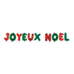 Grossiste coffret ballons en aluminium spécial Noël rouge et vert