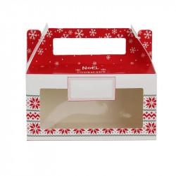 Grossiste boîte à biscuits et chocolats en papier spécial Noël blanche