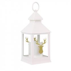 Grossiste lanterne à bougie LED blanche de Noël 24cm