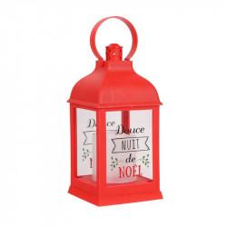 Grossiste lanterne à bougie LED rouge de Noël 24cm
