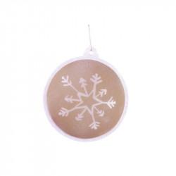 Grossiste boule de Noël LED beige
