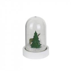 Grossiste cloche LED de Noël de 11x6cm sapin et cerf