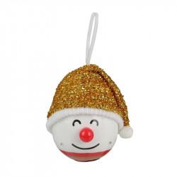 Grossiste décoration LED à suspendre bonhomme Noël 120mm dorée